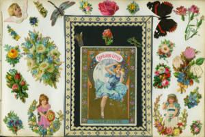 Album-d'epoca-con-figurine-fustellate-e-goffrate,-s.d.